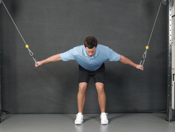 Floor Front Elevation Training : Elevation fitness bent over chest fly single arm